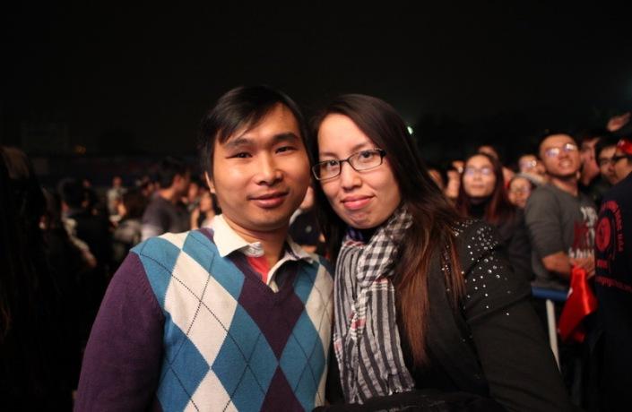 2 vợ chồng trong show Nhiệt